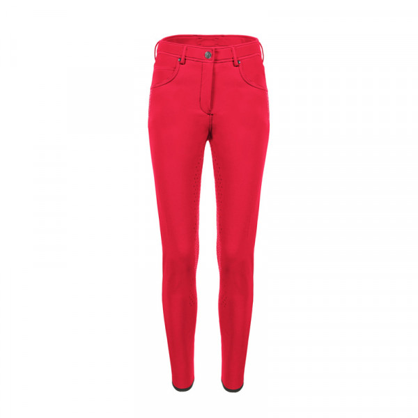 Cavallo Damen Reithose CLEO grip ART -red chili - Grösse 38