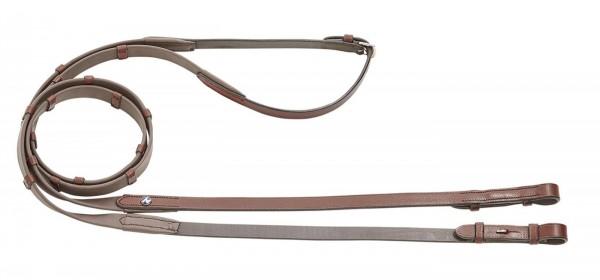 Zügel BIOTHANE® mit Stegen 15mm / 135cm - Hazel