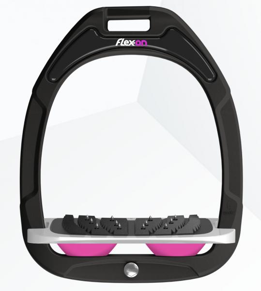 Flex-on Steigbügel Green Composite-schwarz/pink