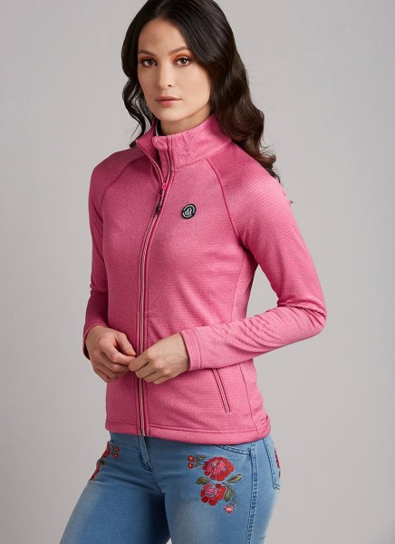 Mountain Horse Fleece Jacke HOLIDAY FULL ZIP - Dazzling Pink - Gr. XS