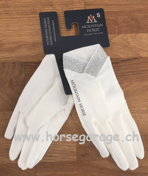 Mountain Horse SHINE GLOVE Handschuh - Weiss