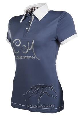 43f1d83ca15562 Cavallino Marino Damen Poloshirt SOFT POWDER - Blau   Horsegarage