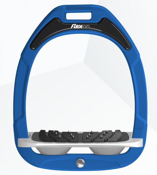 Flex-on Steigbügel Green Composite-blau/grau/grau
