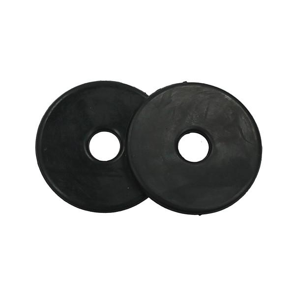 Gebissscheiben klein - schwarz