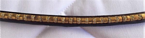 BR Stirnband mit golden Strasssteinen ATLAS Tabacco - Gr. VB