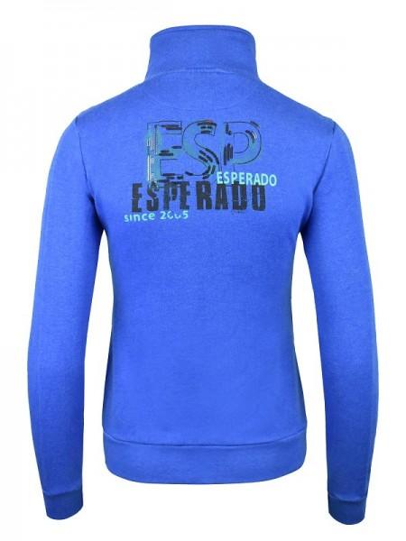 Esperado Damen Sweatshirt Jacke PERFORMANCE Cyanblau